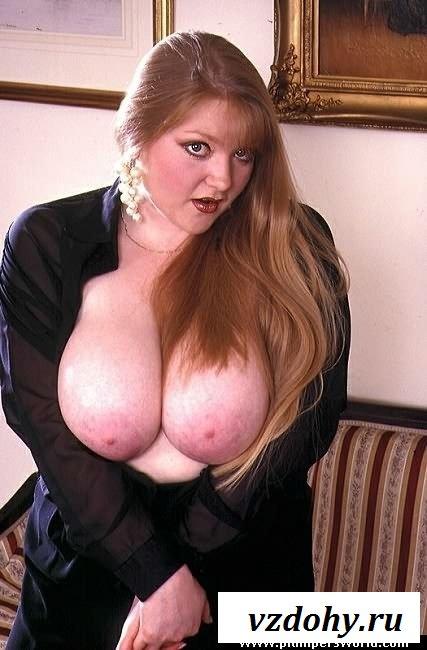 Голодная сиськастая толстая баба
