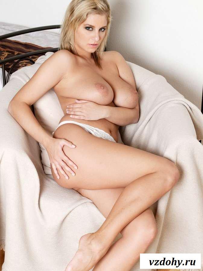 Раздетая секс бомба с большими сиськами на кровати (38 фото эротики)